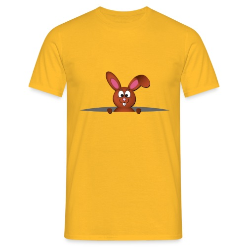Cute bunny in the pocket - Maglietta da uomo