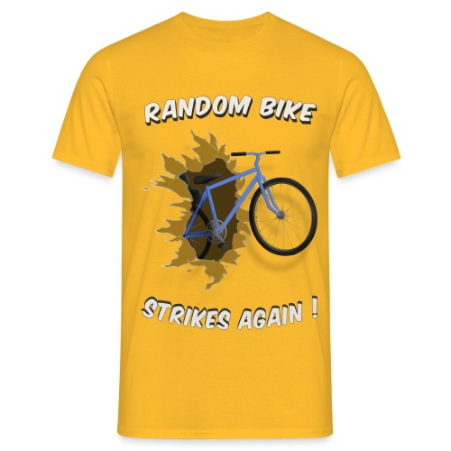 random bike t shirtwhite only - Men's T-Shirt