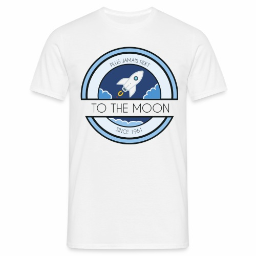 CryptoLoco - To the MOON ! - White - T-shirt Homme