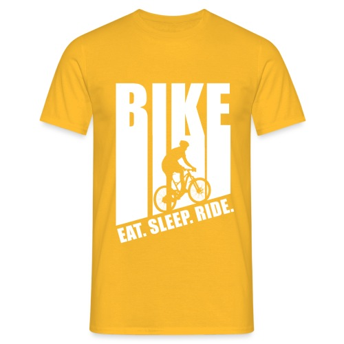 eat sleep ride MTB Downhill Evolution fun bike lit - Männer T-Shirt