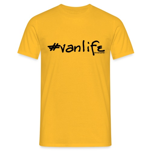 vanlife black - Men's T-Shirt