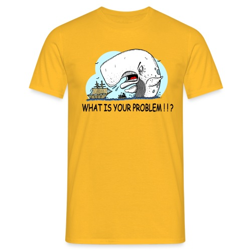 moby dick gets upset - Camiseta hombre