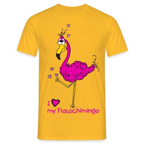 I love my Flauschimingo - Männer T-Shirt