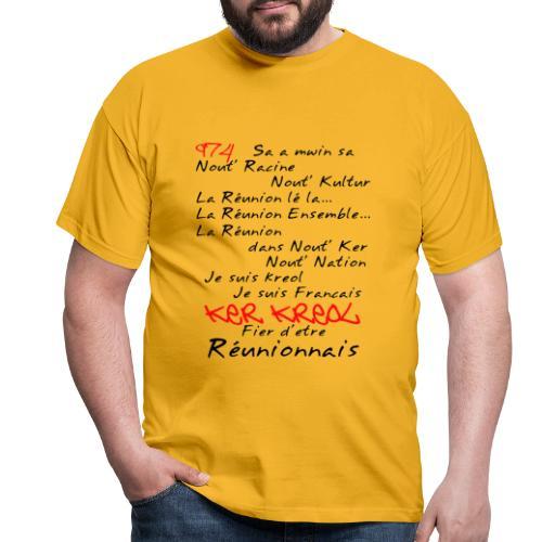 Kosement 974 ker kreol - T-shirt Homme