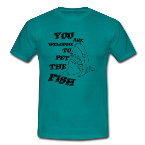 Pet The Fish - T-shirt herr