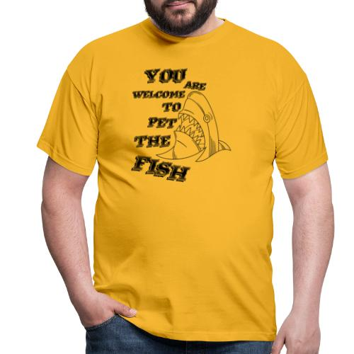 Pet The Fish - T-shirt herr