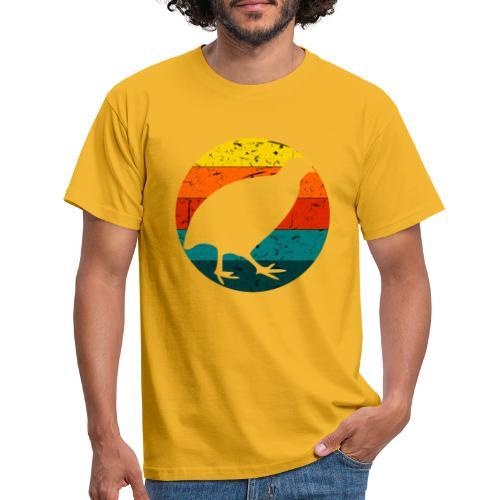 Retro Wachtel Geschenkidee Design Wachteln Logo - Männer T-Shirt