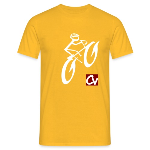 cuboviaggiatore rosso bianco logo grand - Men's T-Shirt