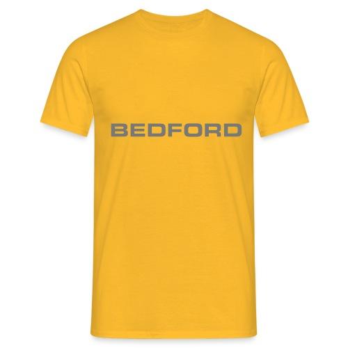 Bedford script emblem - Autonaut.com - Men's T-Shirt