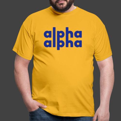 alpha alpha - Männer T-Shirt