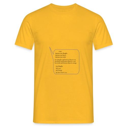 Gedicht Two - Männer T-Shirt