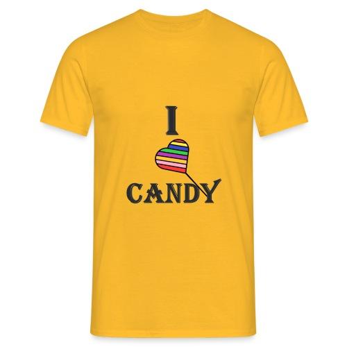 I love candy - Miesten t-paita