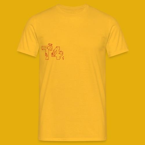 T4 Red White - Men's T-Shirt