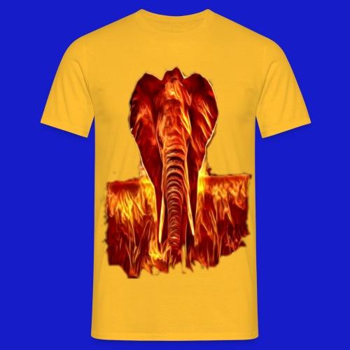 Fire elephant 🔥 🐘 - Men's T-Shirt