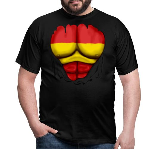 España Flag Ripped Muscles six pack chest t-shirt - Men's T-Shirt