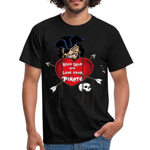 love your pirate - Maglietta da uomo