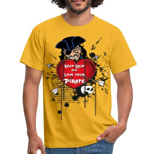 love your pirate - Maglietta da uomo