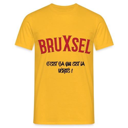 BRUXSEL - C'est ca qui est la vérité - Red - T-shirt Homme