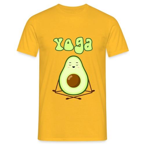 yoga avocado namaste pace amore hippie relax - Maglietta da uomo