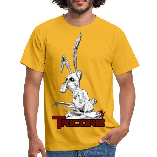 tricore rabbit - Men's T-Shirt