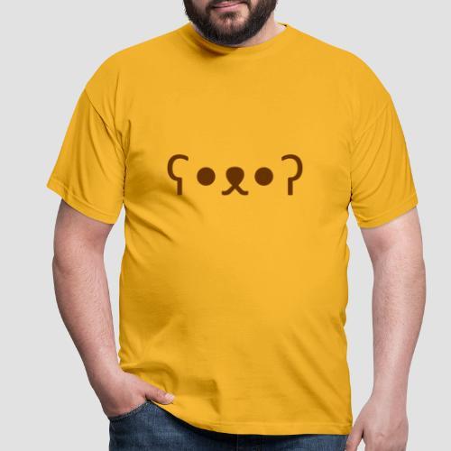 Kuma Kaomoji (Marron) - T-shirt Homme
