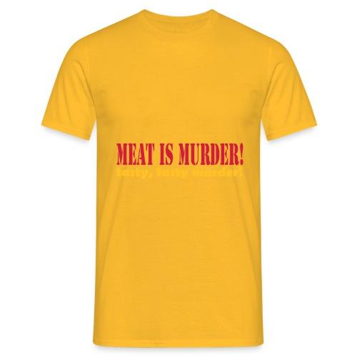 Meat is murder - Men's T-Shirt