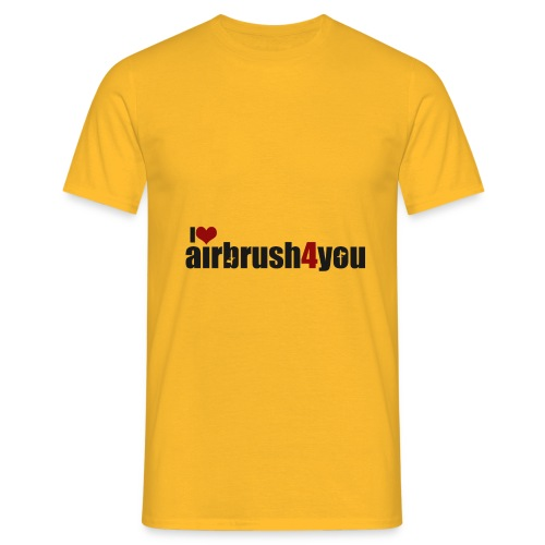 I Love airbrush4you - Männer T-Shirt