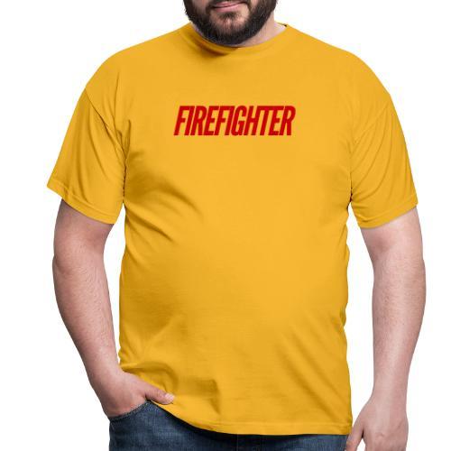 Firefighter - T-skjorte for menn