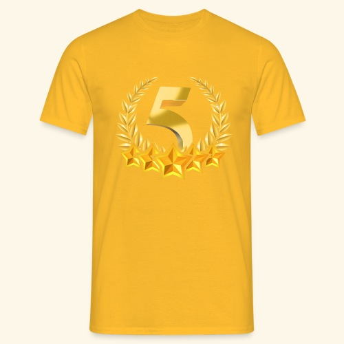 Fünf-Stern 5 sterne - Männer T-Shirt