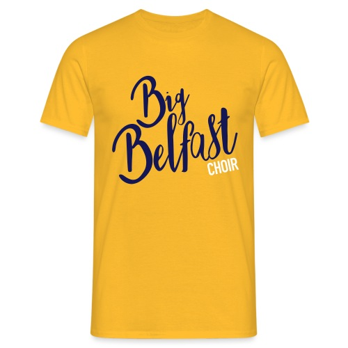 Big Belfast Choir Navy white - Men's T-Shirt