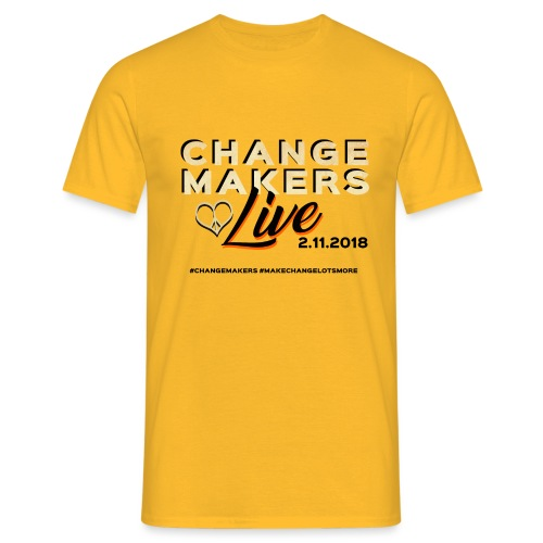 'CHANGE MAKERS LIVE' CREW Tshirt - Men's T-Shirt