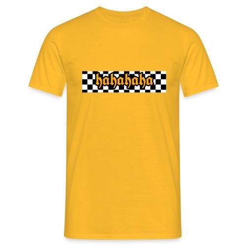 hahahaha checker design - Herre-T-shirt