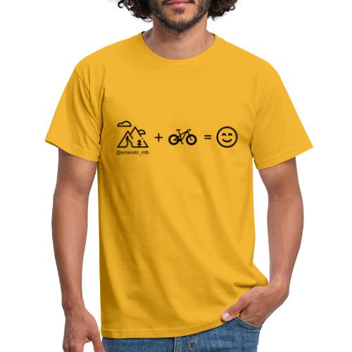 Mountains + Bike = Happiness - Men's T-Shirt