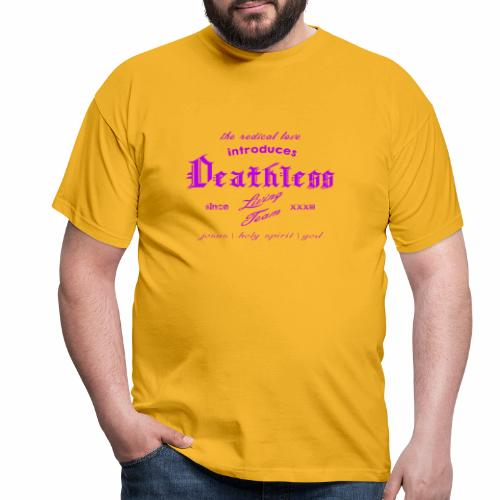 deathless living team violet - Männer T-Shirt