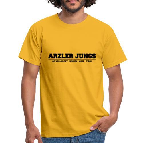 Arzler Jungs Schriftzug in Schwarz - Männer T-Shirt