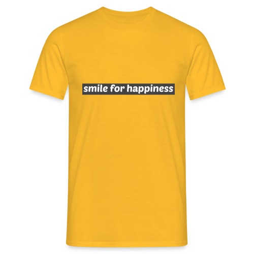smile for happiness - T-shirt herr