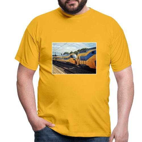 Nieuwe Intercity gesleept door Weesp - Mannen T-shirt