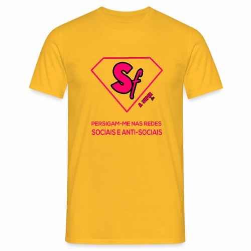 Persigam me nas redes sociais e anti sociais - Camiseta hombre