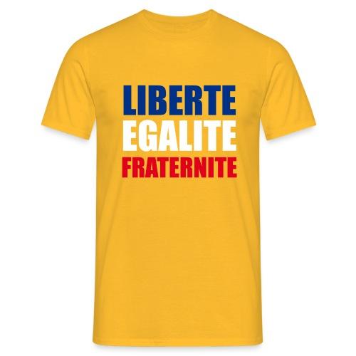 Liberté, Egalité, Fraternité, Bleu, Blanc, Rouge - T-shirt Homme
