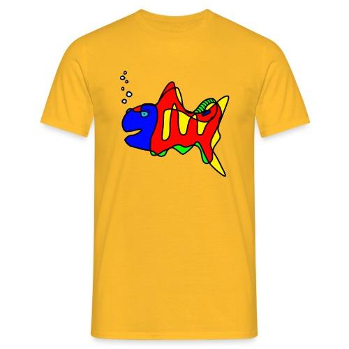 Fisch ....Tusche Fisch - Männer T-Shirt