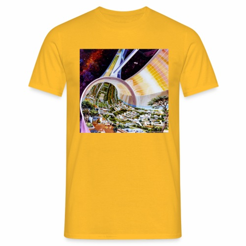 Toroidal Colonies - NASA space colony study - Men's T-Shirt