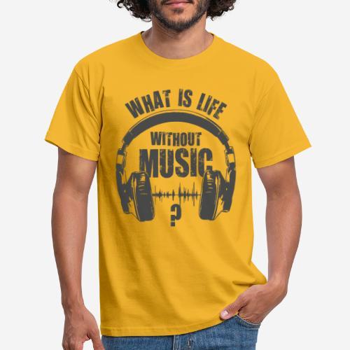 Musik ist Leben - Männer T-Shirt