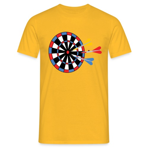 Dartboard with Darts - Mannen T-shirt