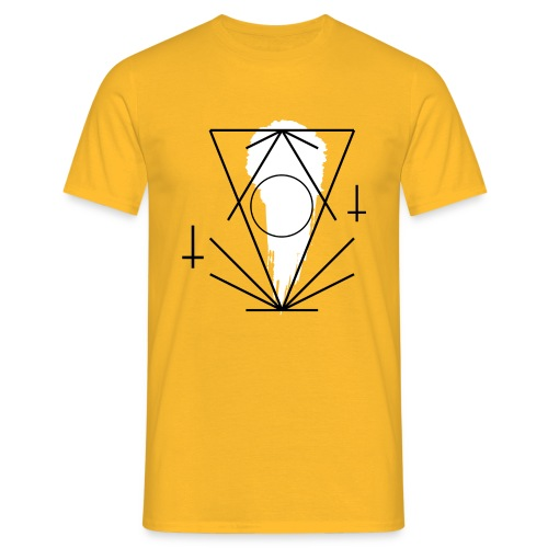 Geo-oddity_line_whiteout - Men's T-Shirt