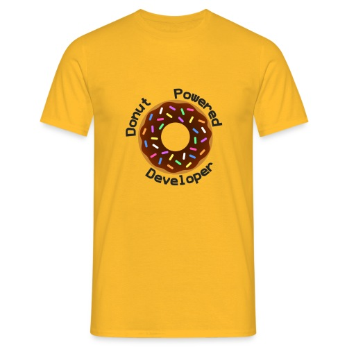 Donut Powered Developer - Camiseta hombre