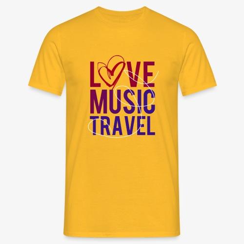 Love Music Travel - Männer T-Shirt