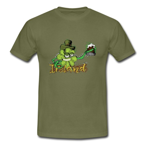 Shamrock with the beer - Men's T-Shirt