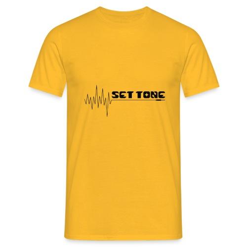 logo zwart set tone 300dpi - Mannen T-shirt