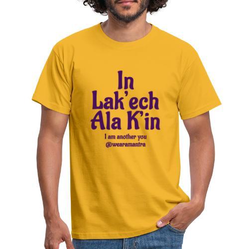 In Lak ech Ala K'in purple - Maglietta da uomo
