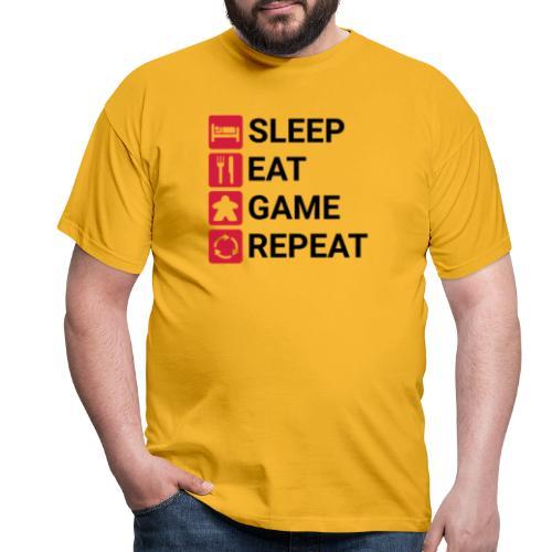 SLEEP, EAT, GAME, REPEAT - T-skjorte for menn
